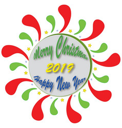 banner christmas 2019 vector image