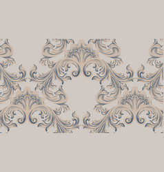Baroque ornament pattern background vector
