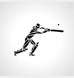 batsman athlete playing cricket vector image