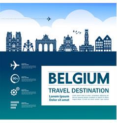 belgium travel destination vector image