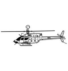 bell oh-58d kiowa warrior vector image