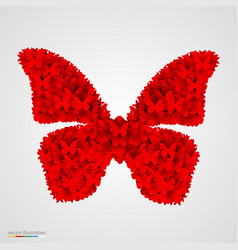 Butterfly made of small butterflyes vector