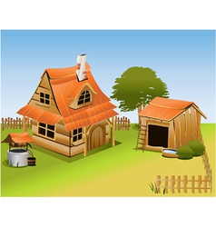 Cartoon farm vector