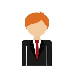 Cartoon suit man avatar person icon vector