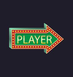 Casino party pointer to the right player vector