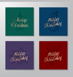 christmas abstract rectangle cards or banners vector image