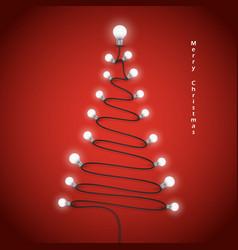 Colorful light bulbs and Christmas tree symbol vector
