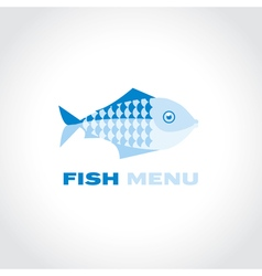Concept fish menu simple icon symbol for fish vector