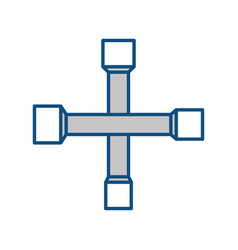 Cross wrench tool vector