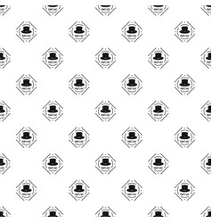cylinder hat pattern seamless vector image