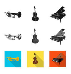 Design of music and tune sign set of music vector