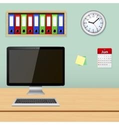Designer workplace vector image