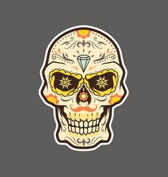 dia de muertos el muerto los muertos day the vector image