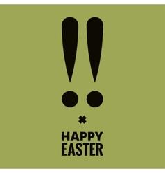Easter bunny design background vector