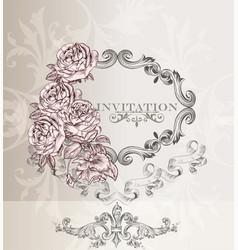 Elegant wedding invitation card for design vector