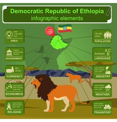 Ethiopia infographics statistical data sights vector