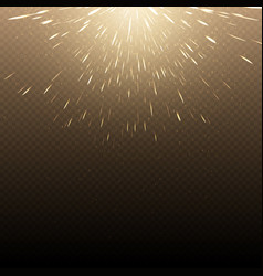 Falling hot fire glowing sparks background vector