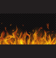 fire flame with horizontal repeat vector image