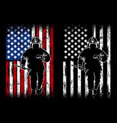 fireman flag american vector image