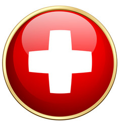 Flag icon design for switzerland vector