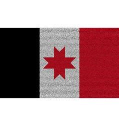 Flags Udmurtia on denim texture vector image
