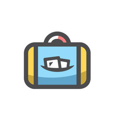 funky travel bag icon cartoon vector image