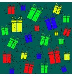 Gift vintage background vector image