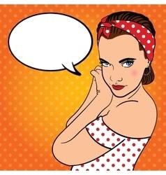 Girl with headband Comics style vector image