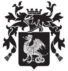 heraldic silhouette No36 vector image