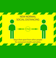 Icon people concept new normal stay 6 feet apart vector
