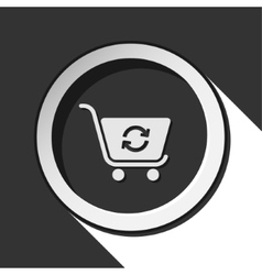 Icon shopping cart refresh with shadow vector