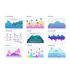 infographic diagram statistics bar graphs vector image