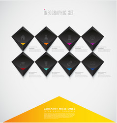 infographic template with colorful shapes and vector image