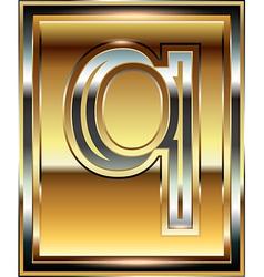 Ingot Font Letter q vector image