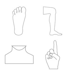 isolated object of human and part icon collection vector image