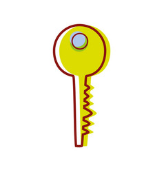 key to protect important information vector image vector image