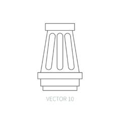 Line flat icon car repair part - air filter vector image