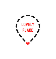 Lovely place logo like dotted geotag vector