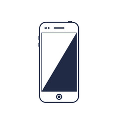 mobile phone device with blank screen vector image