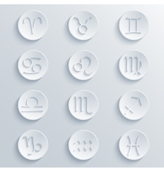 modern signs of the zodiac Circle icons vector image