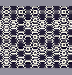 monochrome honeycomb or hexagonal background with vector image