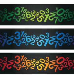 multi coloured number background vector image vector image