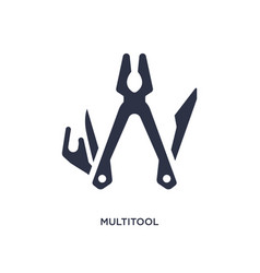 Multitool icon on white background simple element vector