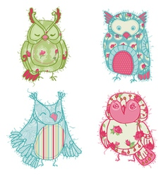 Owl Scrapbook Collection vector
