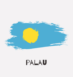 palau watercolor national country flag icon vector image