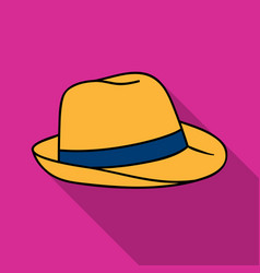 Panama hat icon in flate style isolated on white vector
