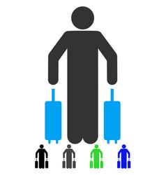 Passenger luggage flat icon vector