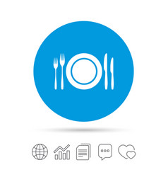 Plate dish with forks and knifes vector