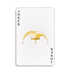 Playing card with joker hat vector