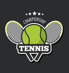 Racket and ball of tennis sport design vector